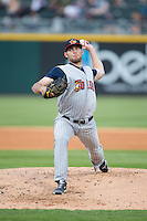 Toledo Mud Hens starting pitcher Kyle Ryan (23) in action against the Charlotte Knights at BB&T BallPark on April 27, 2015 in Charlotte, North Carolina.  The Knights defeated the Mud Hens 7-6 in 10 innings.   (Brian Westerholt/Four Seam Images)