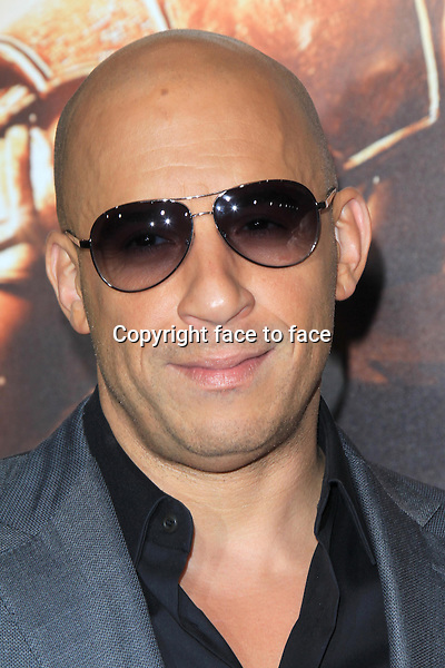 WESTWOOD, CA - AUGUST 28: Vin Diesel at the premiere of Universal Pictures' 'Riddick' at Mann Village Theatre on August 28, 2013 in Westwood, California. <br />