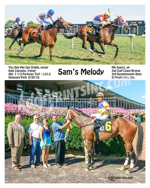 Sam's Melody winning at Delaware Park on 8/25/15