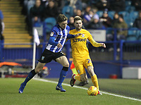 Preston North End's Tom Barkuizen battles with  Sheffield Wednesday's Adam Reach <br /> <br /> Photographer Mick Walker/CameraSport<br /> <br /> The EFL Sky Bet Championship - Sheffield Wednesday v Preston North End - Saturday 22nd December 2018 - Hillsborough - Sheffield<br /> <br /> World Copyright © 2018 CameraSport. All rights reserved. 43 Linden Ave. Countesthorpe. Leicester. England. LE8 5PG - Tel: +44 (0) 116 277 4147 - admin@camerasport.com - www.camerasport.com