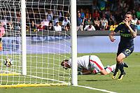 Gol di Marcelo Brozovic Inter goal celebration<br /> Benevento 01-10-2017  Stadio Ciro Vigorito<br /> Football Campionato Serie A 2017/2018. <br /> Benevento - Inter<br /> Foto Cesare Purini / Insidefoto