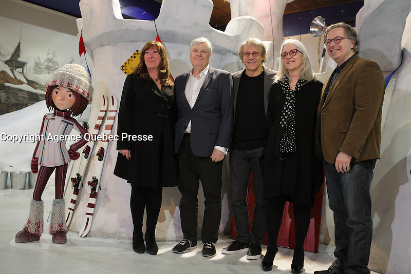 TELEFILM CANADA Guichet, D'Or 2015 given to LA GUERRE DES TUQUES - 3D, March 22 2016 at Musee Grevin - Montreal<br /> <br /> Photo : Pierre Roussel - Agence Quebec Presse
