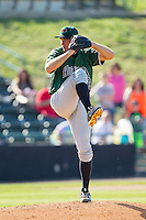 Augusta GreenJackets starting pitcher Christian Jones (23) in action against the Hickory Crawdads at L.P. Frans Stadium on May 11, 2014 in Hickory, North Carolina.  The GreenJackets defeated the Crawdads 9-4.  (Brian Westerholt/Four Seam Images)