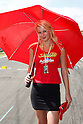 June 26, 2010 - Assen, Holland - A grid girl is pictured during the Dutch Grand Prix at Assen, Holland, on June 26, 2010. (Photo Andrew Northcott/Nippon News).