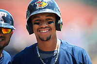 Toledo Mudhens Dixon Machado (6) before a game against the Buffalo Bisons on May 18, 2016 at Coca-Cola Field in Buffalo, New York.  Buffalo defeated Toledo 7-5.  (Mike Janes/Four Seam Images)