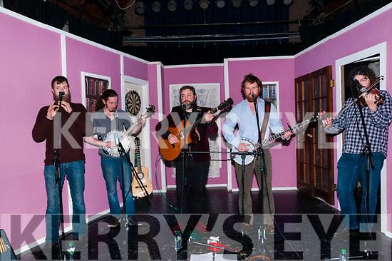 All for me Grog: The Liberties folk group performing on stage at St. John's Arts Centre, Listowel on Friday night last.