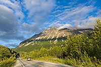 Glenn Highway in the Matanuska Valley, Alaska.