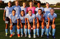 Piscataway, NJ - Wednesday Sept. 07, 2016: Sky Blue FC starting eleven during a regular season National Women's Soccer League (NWSL) match between Sky Blue FC and the Orlando Pride FC at Yurcak Field.