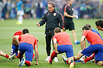 Atletico de Madrid's physical trainer Oscar Ezequiel El Profe Ortega during UEFA Champions League 2015/2016 Final match.May 28,2016. (ALTERPHOTOS/Acero)