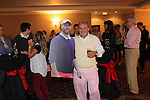 Brendan O'Connell with a cardboard cut out of Brian McFadden.<br /> Celebrity Cup Players BBQ<br /> Celtic Manor Resort<br /> 04.07.14<br /> &copy;Steve Pope-SPORTINGWALES