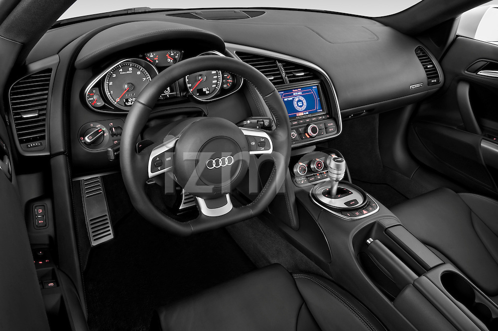 High angle dashboard view of a 2008 - 2012 Audi R8 V8 FSI Coupe.