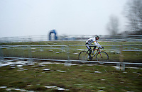 course recon & training in the snow<br /> <br /> 2015 UCI World Championships Cyclocross <br /> Tabor, Czech Republic