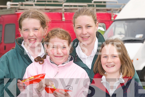 RELAXING: Relaxing and having a good day at the Kingdom County Fair, Ballybeggan Racecourse, Tralee, on Sunday. L-r : Amanda Nolan, Alanna Kelliher, Emma O'Sullivan and Rebecca Savage (Milltown)..