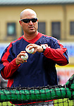 14 March 2007: Washington Nationals manager Manny Acta tosses batting practice prior to facing the St. Louis Cardinals at Roger Dean Stadium in Jupiter, Florida...Mandatory Photo Credit: Ed Wolfstein Photo
