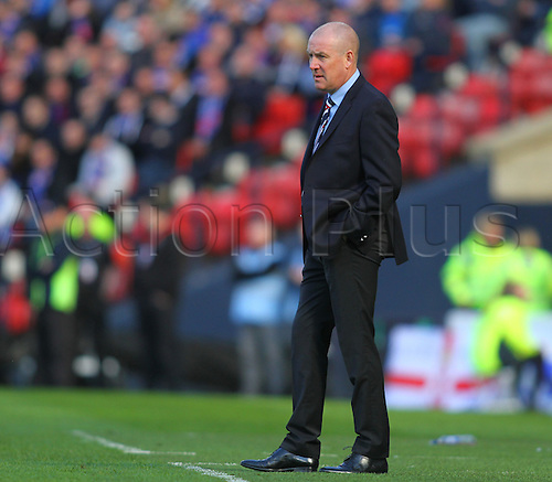 10.04.2016. Hampden Park, Glasgow, Scotland. Petrofac Training Cup Final. Rangers versus Peterhead. Mark Warburton, Rangers manager
