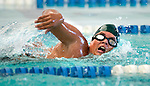 Country Club's Carl Hulbert competes in the 100 yard free race during the 53rd annual Country Club Swimming Championships on Monday, Aug. 6, 2012, in Kearns, Utah. (© 2012 Douglas C. Pizac)