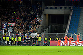 31st October 2017, St Jakob-Park, Basel, Switzerland; UEFA Champions League, FC Basel versus CSKA Moscow; Pontus Wernbloom of CSKA Moscow celebrates in front of the CSKA Moscow fans after scoring his goal in the 79th minute to make it 2-1