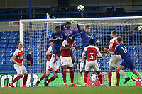 Arsenal goalkeeper, Arthur Okonkwo, punches the ball clear during Chelsea Under-23 vs Arsenal Under-23, Premier League 2 Football at Stamford Bridge on 15th April 2019