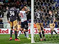 Bolton Wanderers' Josh Magennis rues a near miss <br /> <br /> Photographer Andrew Kearns/CameraSport<br /> <br /> The EFL Sky Bet Championship - Bolton Wanderers v Sheffield Wednesday - Tuesday 12th March 2019 - University of Bolton Stadium - Bolton<br /> <br /> World Copyright © 2019 CameraSport. All rights reserved. 43 Linden Ave. Countesthorpe. Leicester. England. LE8 5PG - Tel: +44 (0) 116 277 4147 - admin@camerasport.com - www.camerasport.com