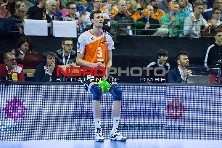 28.03.2015, Max Schmeling Halle, Berlin<br /> Volleyball, 2015 CEV Volleyball Champions League, Final Four, Halbfinale, BR Volleys (GER) vs. Zenit Kazan (RUS)<br /> <br /> Robert Kromm (#3 Berlin)<br /> <br />   Foto &copy; nordphoto / Kurth