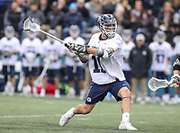 Washington, DC - April 7, 2018: Georgetown Hoyas Craig Berge (11) makes a goal during game between Providence and Georgetown at  Cooper Field in Washington, DC.   (Photo by Elliott Brown/Media Images International)