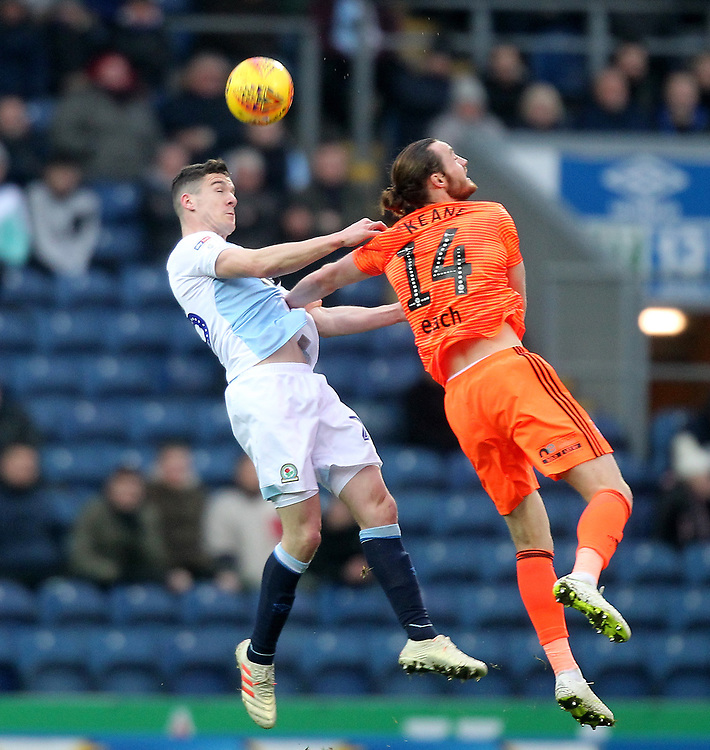 Blackburn Rovers Darragh Lenihan Ipswich Town's Will Keane<br /> <br /> Photographer Mick Walker/CameraSport<br /> <br /> The EFL Sky Bet Championship - Blackburn Rovers v Ipswich Town - Saturday 19 January 2019 - Ewood Park - Blackburn<br /> <br /> World Copyright © 2019 CameraSport. All rights reserved. 43 Linden Ave. Countesthorpe. Leicester. England. LE8 5PG - Tel: +44 (0) 116 277 4147 - admin@camerasport.com - www.camerasport.com