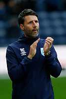 9th November 2019; Deepdale Stadium, Preston, Lancashire, England; Championship Football, Preston North End versus Huddersfield Town; Hudderfield Town manager Danny Cowley applauds the travelling fans- Strictly Editorial Use Only. No use with unauthorized audio, video, data, fixture lists, club/league logos or 'live' services. Online in-match use limited to 120 images, no video emulation. No use in betting, games or single club/league/player publications