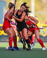 Ella Gunson. International Hockey Warmup game, Blacksticks women v Chile.Auckland Grammar Hockey Turf, Auckland, New Zealand. Thursday 13 December 2018. Photo: Simon Watts/Hockey NZ