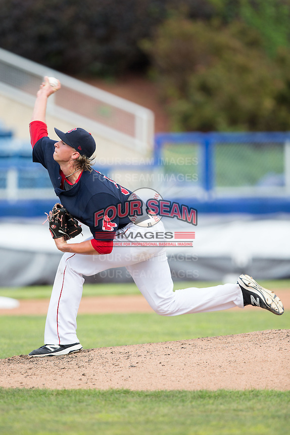 Salem Red Sox starting pitcher Michel Kopech (33) delivers a pitch to the plate against the Lynchburg Hillcats at LewisGale Field at Salem Memorial Baseball Stadium on August 7, 2016 in Salem, Virginia.  The Red Sox defeated the Hillcats 11-2.  (Brian Westerholt/Four Seam Images)