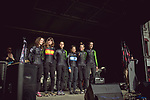 Cylance Pro Cycling at the Team presentation of La Fleche Wallonne Femmes 2018 running 118.5km from Huy to Huy, Belgium. 17/04/2018.<br /> Picture: ASO/Thomas Maheux | Cyclefile.<br /> <br /> All photos usage must carry mandatory copyright credit (© Cyclefile | ASO/Thomas Maheux)