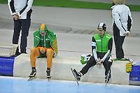 SCHAATSEN: HEERENVEEN: 26-12-2013, IJsstadion Thialf, KNSB Kwalificatie Toernooi (KKT), 5000m, Jorrit Bergsma, Douwe de Vries, ©foto Martin de Jong