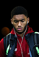 Joe Gomez of Liverpool arrives ahead of the Premier League match between Swansea City and Liverpool at the Liberty Stadium, Swansea, Wales on 22 January 2018. Photo by Mark Hawkins / PRiME Media Images.