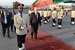 Palestinian President Mahmoud Abbas (Abu Mazen) arrives to the Ethiopian capital Addis Ababa, on Jan. 26, 2013. Photo by Thaer Ganaim