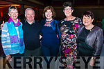 l-r Christine O'Connor, Mary Regan, Maria Roche, Eilish Coakley and Anthony Roache all from Rathmore pictured at Rathmore Strictly Come Dance in the INEC, Killarney last Thursday night.