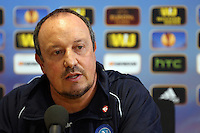 Pictured: Napoli manager Rafa Benitez. Wednesday 19 February 2014<br />