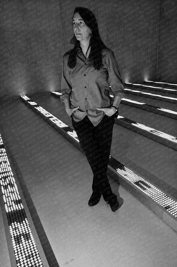 Jenny Holzer, an American conceptual artist.