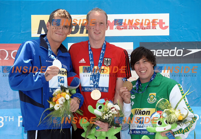 13th Fina World Championships From 17th to 2nd August 2009.Roma 21th July 2009 -.Open Water Swimming 5Km - Nuoto Acque Libere 5Km.Thomas Lurz (GER) Gold Medal.photo: Roma2009.com/InsideFoto/SeaSee.com