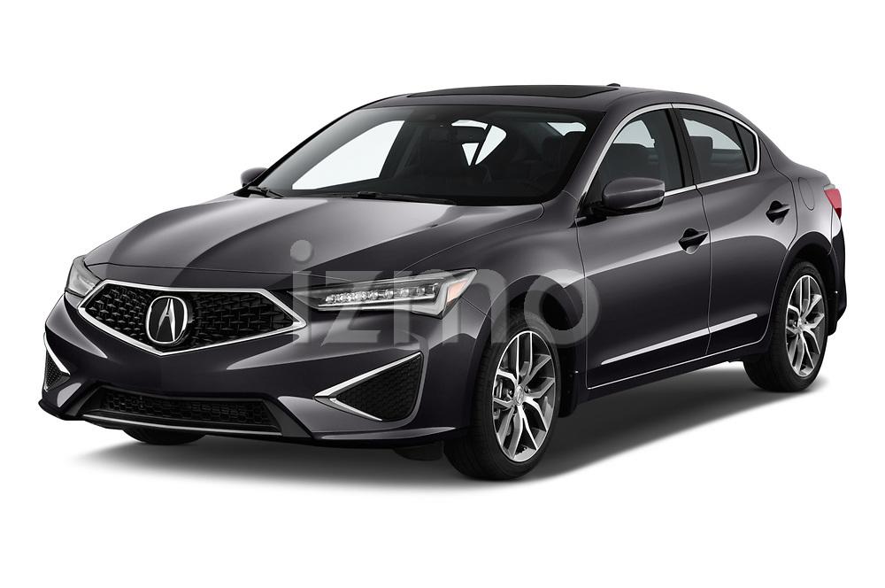 2019 Acura ILX Premium 4 Door Sedan angular front stock photos of front three quarter view