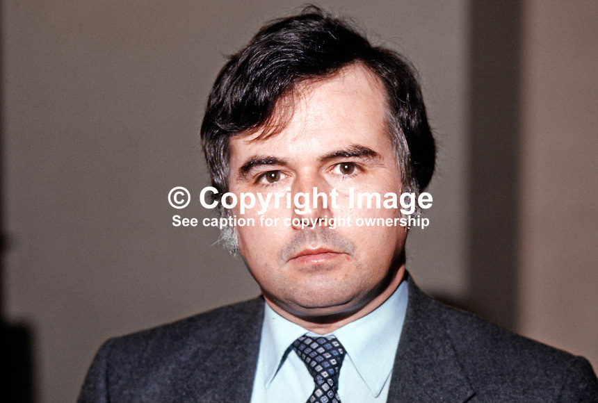 Sean Neeson, assemblyman, Alliance Party, North Antrim, N Ireland, 19840024SN.<br /> <br /> Copyright Image from Victor Patterson, 54 Dorchester Park, Belfast, UK, BT9 6RJ<br /> <br /> t1: +44 28 9066 1296 (from Rep of Ireland 048 9066 1296)<br /> t2: +44 28 9002 2446 (from Rep of Ireland 048 9002 2446)<br /> m: +44 7802 353836<br /> <br /> e1: victorpatterson@me.com<br /> e2: victorpatterson@gmail.com<br /> <br /> The use of my copyright images is subject to my Terms &amp; Conditions.<br /> <br /> It is IMPORTANT that you familiarise yourself with them. They are available on my website at www.victorpatterson.com.<br /> <br /> None of my copyright images may be used on a website unless they are visibly watermarked, i.e. &copy; Victor Patterson within the body of the visible image. Metadata denoting my copyright must NOT be deleted. <br /> <br /> Web use is extra at currently recommended NUJ rates.