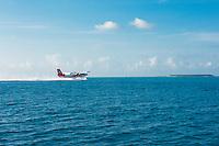 Maldives, Rangali Island. Conrad Hilton Resort. Sea plane.