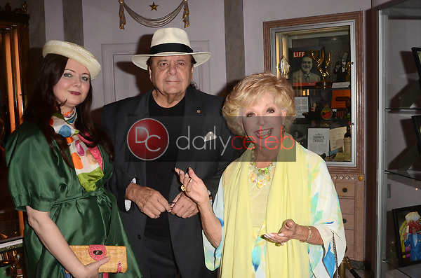 "Dee Dee Sorvino, Paul Sorvino, Ruta Lee<br /> at Rich Little's signing of  ""People I've Known and Been: Little by Little,"" honoring George Burns, Johnny Carson and Dean Martin with a display at the Hollywood Museum of the props he has used to impersonate them over the years, The Hollywood Museum, Hollywood, CA 06-01-18<br /> David Edwards/DailyCeleb.com 818-249-4998"