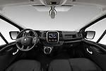 Stock photo of straight dashboard view of a 2020 Renault Trafic Grand-Confort 4 Door Cargo Van