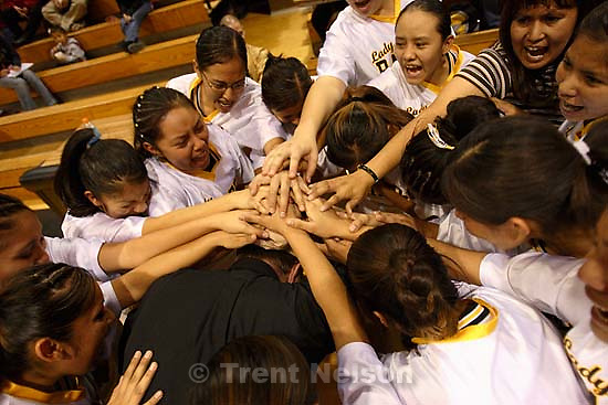 Whitehorse high school girls basketball, senior night, a win over Rock Point. 2.03.2006<br />
