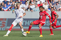 Carson, CA - Sunday, February 8, 2015 Brek Shea (11) of the USMNT and Ismael Diaz (22) of Panama. The USMNT defeated Panama 2-0 during an international friendly at the StubHub Center