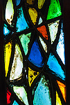 Colourful glass lead light in Le Seu Cathedral, Palma De Mallorca, Spain