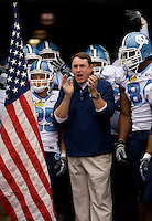 North Carolina head coach Butch Davis during the Meineke Car Care Bowl college football game at Bank of America Stadium in Charlotte, NC.