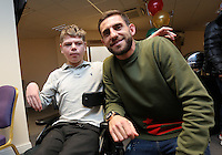 Pictured: Angel Rangel Tuesday 06 December 2016<br /> Re: Swansea City FC Christmas Party at the Liberty Stadium, Wales, UK