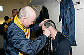 Reon Graham shaves fellow coach Craig Carter's head.  McNamara Cup final - Premier 1 Championship, Patumahoe v Ardmore Marist. Patumahoe won 13 - 6. Counties Manukau club rugby finals played at Growers Stadium, Pukekohe, 24th of June 2006.