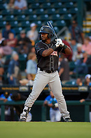 Jupiter Hammerheads Isael Soto (15) during a Florida State League game against the Bradenton Marauders on April 20, 2019 at LECOM Park in Bradenton, Florida.  Bradenton defeated Jupiter 3-2.  (Mike Janes/Four Seam Images)