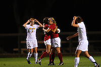 14 September 2007: Stanford Cardinal Allison McCann (right) and Christen Press (left) during Stanford's 3-2 win in the Stanford Invitational against the Missouri Tigers at Maloney Field in Stanford, CA.